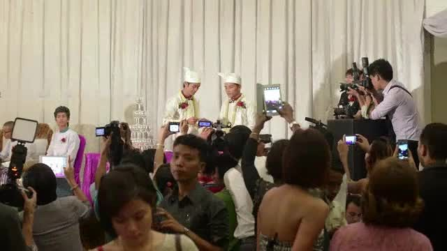 News video: Myanmar couple in 'first public gay wedding ceremony'