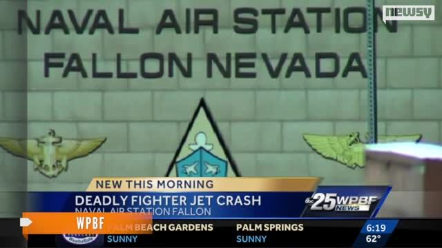 News video: Navy Pilot Dies In Fighter Jet Crash During Training