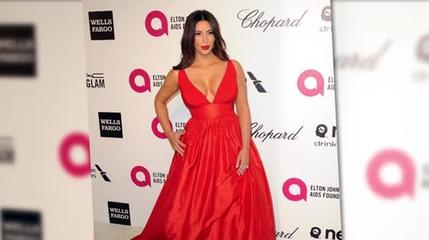 News video: Kim Kardashian Stuns at Elton John's Oscars After-Party
